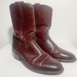 FRYE Western Leather Boots Size 9